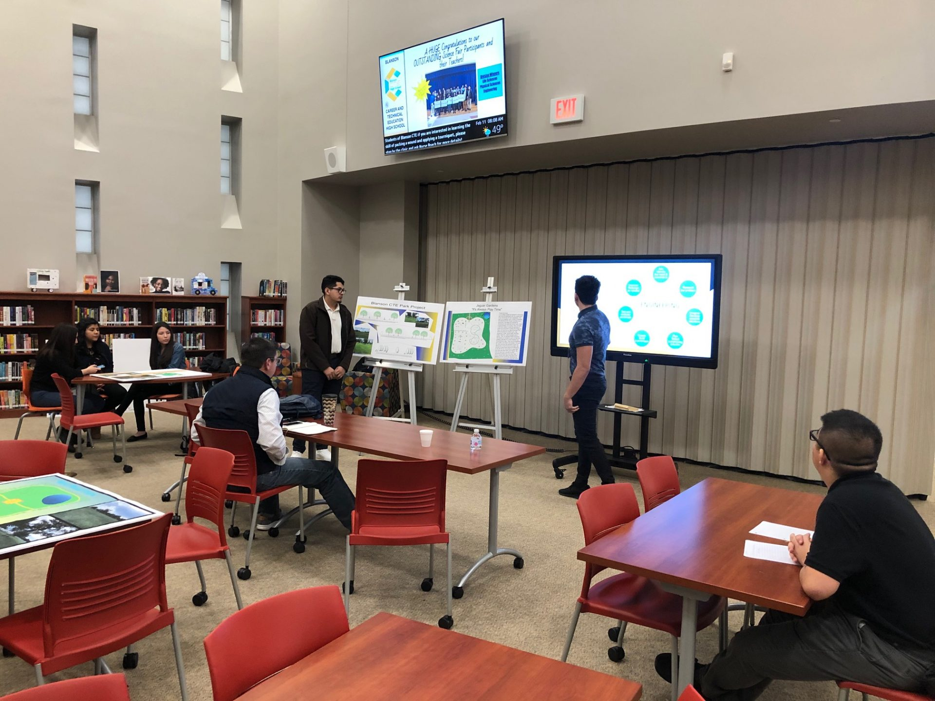 North Houston Association Representatives Meet with Blanson CTE Students for Park Design